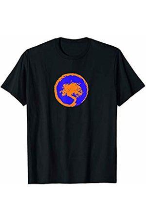 Bored (By Design) Bonsai Tree Shirt - Yoga Peace Japanese Zen Meditation Blue T-Shirt