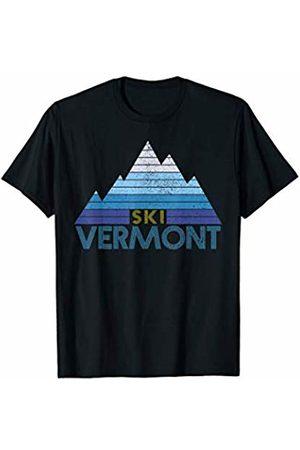 Vermont Ski Apparel Co. Vermont Ski Vintage Mountain Winter Sports Skiing Souvenir T-Shirt