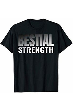 Gym Strongest weightlifter Bestial Strength Workout T-Shirt