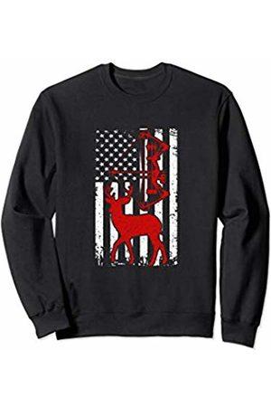 Bow Hunting Deer American flag Funny Gift idea men Bow Hunting Deer American flag Funny Gift idea for men women Sweatshirt