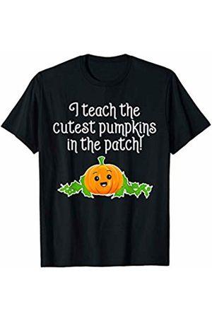 CuteComfy Women T-shirts - Cutest Pumpkins in the Patch Cute Funny Teacher Halloween T-Shirt