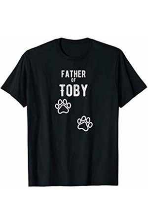 Dad of Toby Dog Name Designs Mens Father of Toby - Dog Puppy Personalized Name Graphic T-Shirt