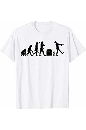 Miftees Women T-shirts - Zombie Evolution Funny Evolution of the Zombie T-Shirt
