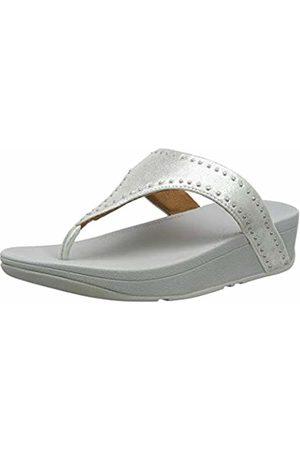 FitFlop Women's Lottie Microstud Toe-Thongs Open Sandals, ( 011)