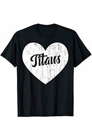 School Spirit Sports Team Apparel & Tees Titans School Sports Fan Team Spirit Mascot Cute Heart Gift T-Shirt