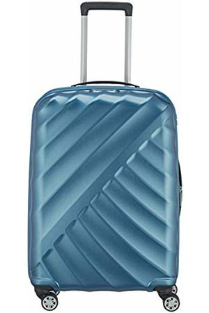 Titan ® Shooting Star Hard Shell Trolley with Cool Metallic Look in 4 Trendy Colours 66 cm (Turquoise) - 828405-22