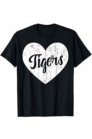 School Spirit Sports Team Apparel & Tees Tigers School Sports Fan Team Spirit Mascot Cute Heart Gift T-Shirt