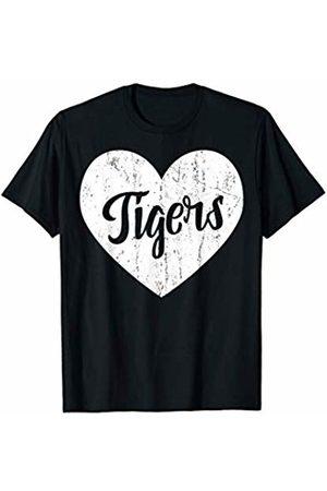 School Spirit Sports Team Apparel & Tees Tigers School Sports Fan Team Spirit Mascot Cute Heart Gift T-Shirt