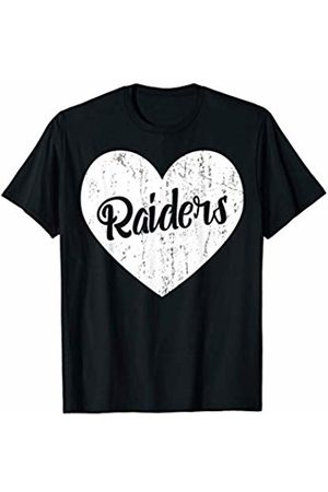 School Spirit Sports Team Apparel & Tees Raiders School Sports Fan Team Spirit Mascot Cute Heart Gift T-Shirt