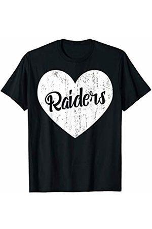 School Spirit Sports Team Apparel & Tees Raiders School Sports Fan Team Spirit Mascot Cute Heart Gift T-Shirt