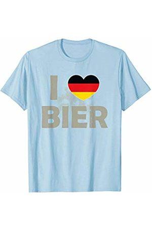 Oktoberfest Apparel by BUBL TEES I Love Bier Beer Germany Deutschland Flag Oktoberfest T-Shirt