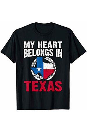 That's Life Brand MY HEART BELONGS IN TEXAS T SHIRT