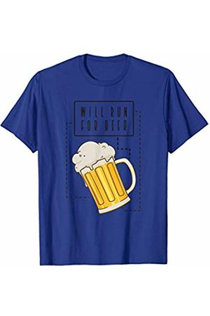 DeesPrints Will Run for Beer - Marathon Runner Drinking T-Shirt