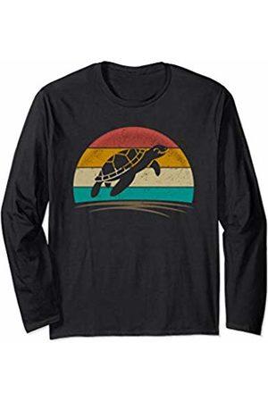 Wowsome! Sea Turtle Retro Vintage 70s Distressed Animal Men Women Long Sleeve T-Shirt