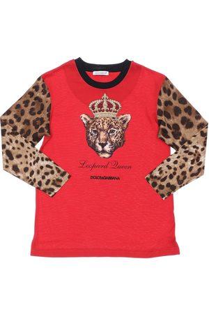 Dolce & Gabbana Tiger Print L/s Cotton Jersey T-shirt
