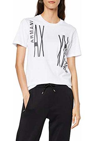 Armani Women's Mirror Logo T-Shirt, (Optic 1000)
