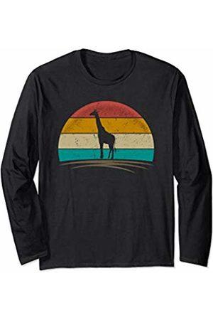 Wowsome! Vintage Giraffe Retro Distressed Giraffe Safari Men Women Long Sleeve T-Shirt