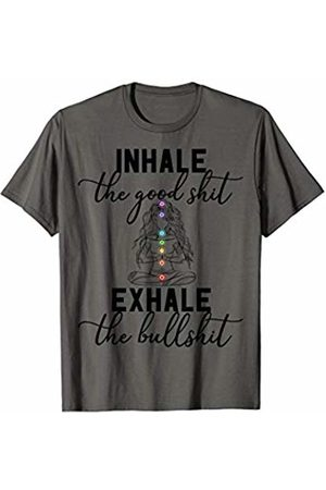 Funny Yoga Meditation Chakra design Inhale the Good Exhale The Bullshit Chakra Meditation Yoga T-Shirt