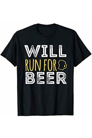 Will Run For Beer Funny Running marathon half marathon 10k T-Shirt