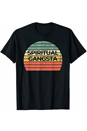 yoga shirts and gifts Vintage Retro Sunset Funny Yoga | Spiritual Gangsta T-Shirt