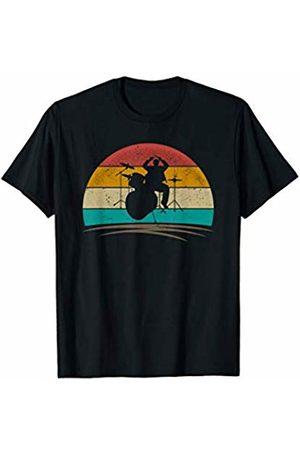 Wowsome! Vintage Drummer Retro 70s Distressed Drum Player Men Women T-Shirt