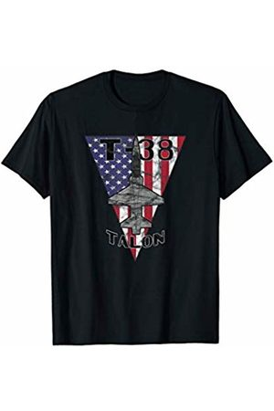 Designed For Flight T-38 Talon Military Jet Trainer Airplane Patriotic Vintage T-Shirt