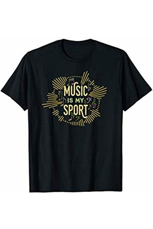 Young Musician Gifts & Cool Band Geek Shirt Co. Music is My Sport T-Shirt
