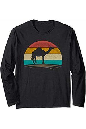 Wowsome! Vintage Dromedary Retro Distressed Arabian Camel Men Women Long Sleeve T-Shirt
