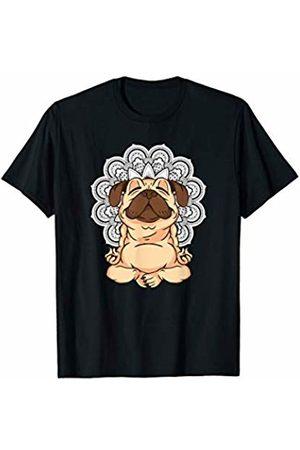 Mandala Ganesha Tribal Style Shirts Mandala Yoga Pug Dog Ganesha Tribal Ornaments Chakra Shirt T-Shirt