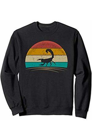Wowsome! Women Sweatshirts - Vintage Scorpion Retro 70s Distressed Scorpion Men Women Sweatshirt