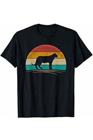 Wowsome! Vintage Jaguar Panther Retro Distressed Feline Men Women T-Shirt