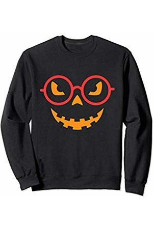 Last Minute Halloween Costumes Pumpkin Glasses Halloween Sweatshirt