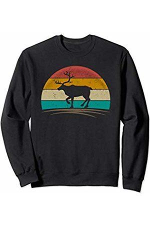 Wowsome! Vintage Reindeer Retro 70s Distressed Deer Men Women Sweatshirt