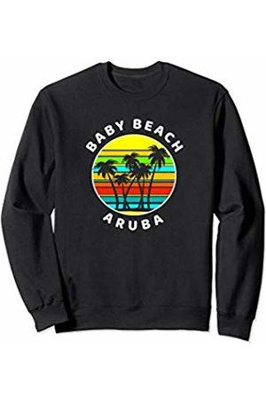 Sunset Palms Beach Shirts Baby Beach Aruba Shirt Palm Trees Silhouette Sunset Sweatshirt