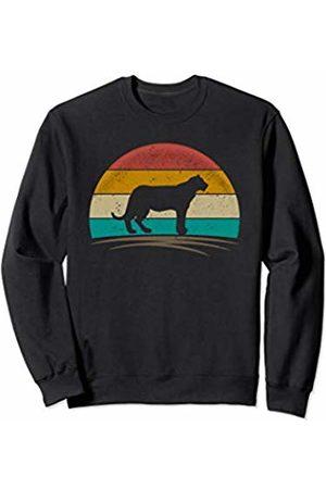 Wowsome! Vintage Jaguar Panther Retro Distressed Feline Men Women Sweatshirt