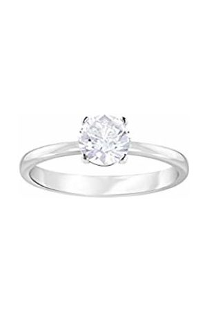 Swarovski Women's Attract Round Ring, Rhodium plating