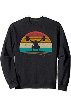Wowsome! Vintage Weightlifter Retro Distressed Gym Weight lifting Men Sweatshirt