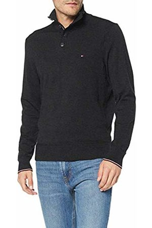 Tommy Hilfiger Men's Cotton Silk Buttoned Zip Mock Sweatshirt