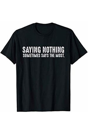 Spiritual Gifts Co. Spiritual Gift Saying Nothing Quiet Yoga Silence Quote T-Shirt