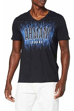 Armani Men's V Neck Logo T-Shirt, ( 1200)