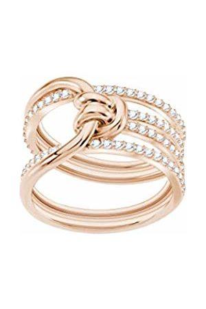 Swarovski Lifelong Wide Ring, Rose gold plating