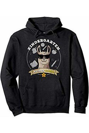 Kindergarten Shirts Tee Kaboom Kindergarten No Prob Llama Distressed Girl Back to School Pullover Hoodie
