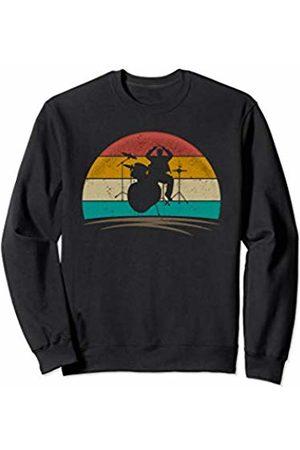 Wowsome! Vintage Drummer Retro 70s Distressed Drum Player Men Women Sweatshirt