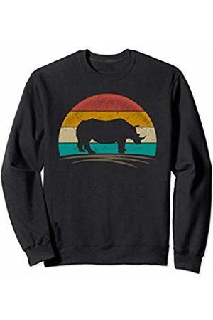 Wowsome! Vintage Rhinoceros Retro 70s Distressed Rhino Men Women Sweatshirt
