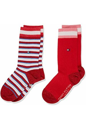 Tommy Hilfiger Girl's Th Kids Sock 2p Lurex Stripe Calf