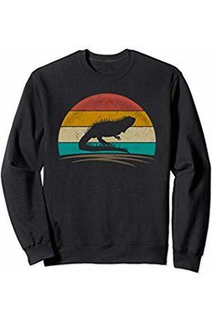 Wowsome! Vintage Iguana Retro 70s Distressed Lizard Men Women Sweatshirt