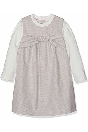 Brums Baby Girls' Scamiciato Panno Tinto Filo Con Finto Camicino Dress