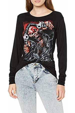 Spiral Direct Women's 5Fdp-Assassin-Licensed Band Baggy Top Long Sleeve 001