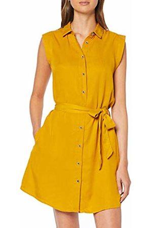Only Women's Onlfchilli Life Sl Shirt Dress WVN Golden