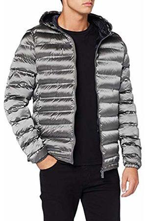 Invicta Men's Giubbino C/Cappuccio 400t Bt Magic Coat, (Grigio/Blu Scuro 1287)